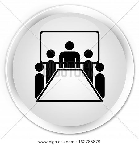Meeting Room Icon Premium White Round Button