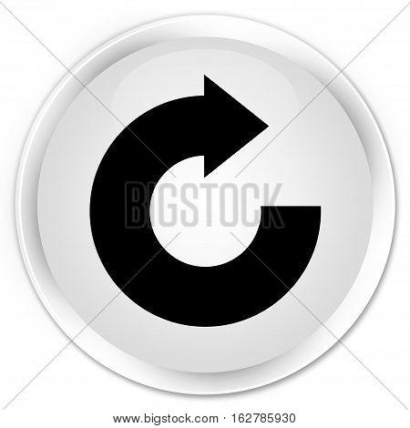 Reply Arrow Icon Premium White Round Button