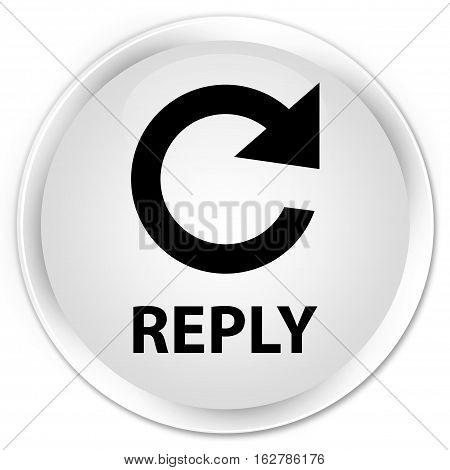Reply (rotate Arrow Icon) Premium White Round Button