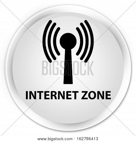 Internet Zone (wlan Network) Premium White Round Button
