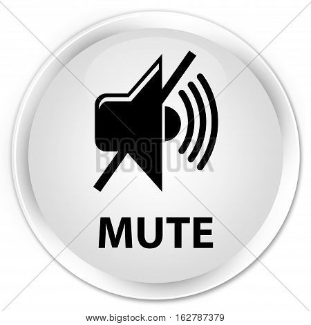 Mute Premium White Round Button