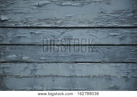 Blue flaking paint on wooden boards Texture, good for 3D work