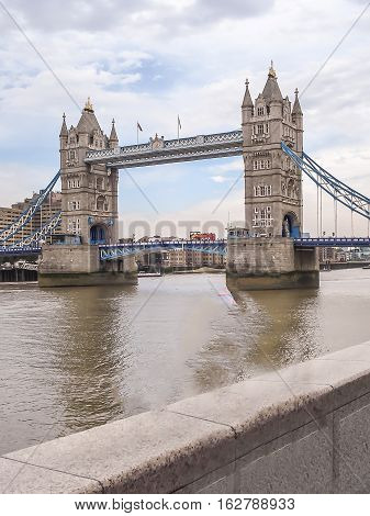 Tower Bridge In London. One Of Most Famous Bridges