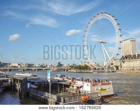 London Eye At The River Thames In London