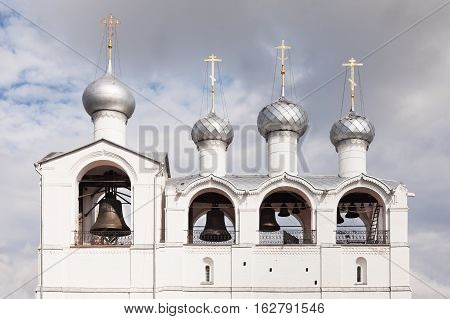 Old Belfry in Rostov Kremlin in Russia