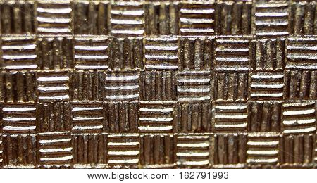 interesting texture pattern on the metal style