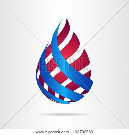 Abstract vector logo or icon design template.