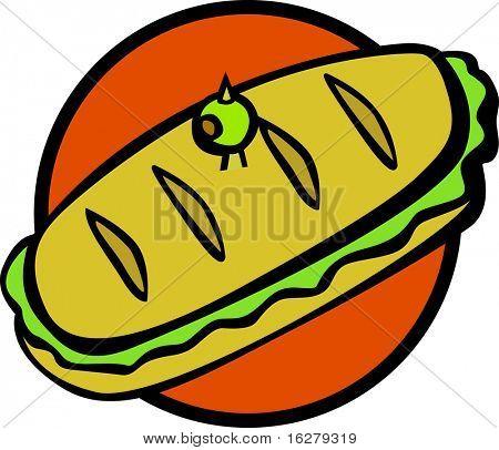 sandwich grande de estilo sub