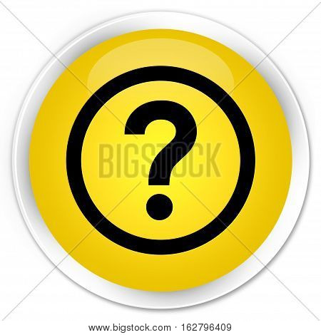 Question Icon Premium Yellow Round Button