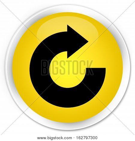 Reply Arrow Icon Premium Yellow Round Button