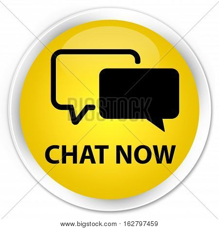 Chat Now Premium Yellow Round Button