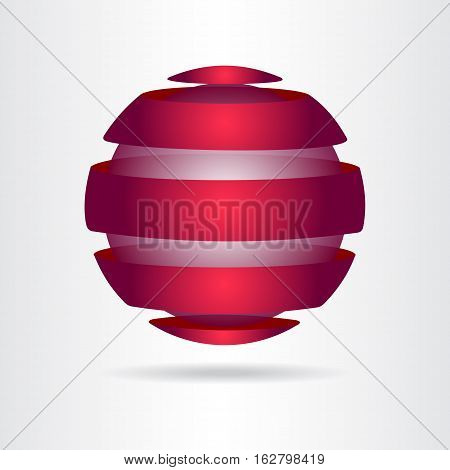 Logo of a stylized sphere with abstract shapes. This logo is suitable for global company, world technologies and media and publicity agencies