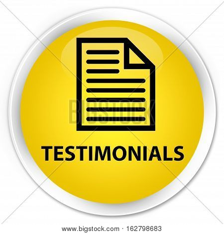 Testimonials (page Icon) Premium Yellow Round Button