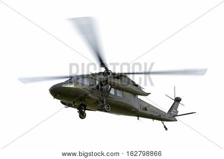 Military helicopter UH-60 Black Hawk realistic 3d render.