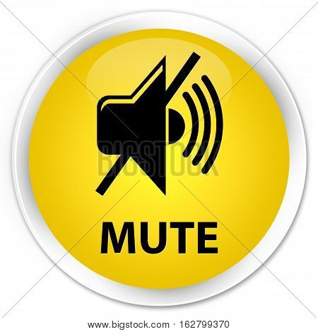Mute Premium Yellow Round Button