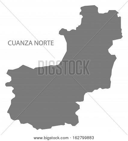 Cuanza Norte Angola Map grey province silhouette illustration