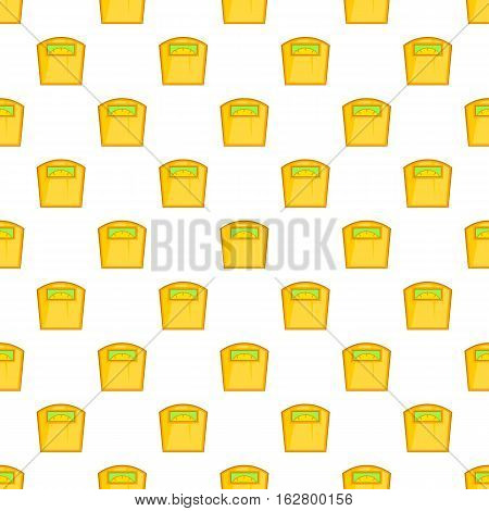 Yellow scales pattern. Cartoon illustration of yellow scales vector pattern for web