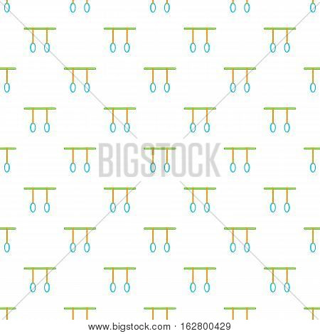 Athletic rings pattern. Cartoon illustration of athletic rings vector pattern for web