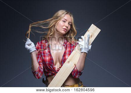 Portrait Of Young Female Construction Carpenter
