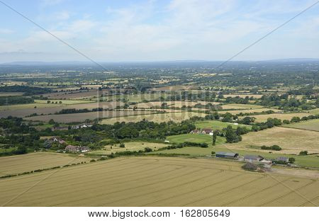 The South Downs countryside at Devil's Dyke near Brighton in East Sussex England