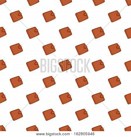 Leather purse pattern. Cartoon illustration of leather purse vector pattern for web