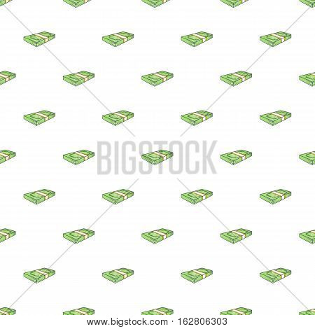 Bundle of money pattern. Cartoon illustration of bundle of money vector pattern for web