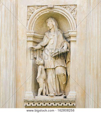 Santa Casa, Loreta, Prague - Statue Of A Sybil