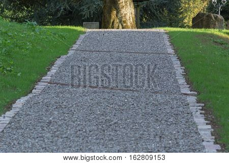 Nice new gravel road in a park.