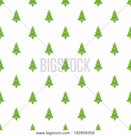 Fur tree pattern. Cartoon illustration of fur tree vector pattern for web
