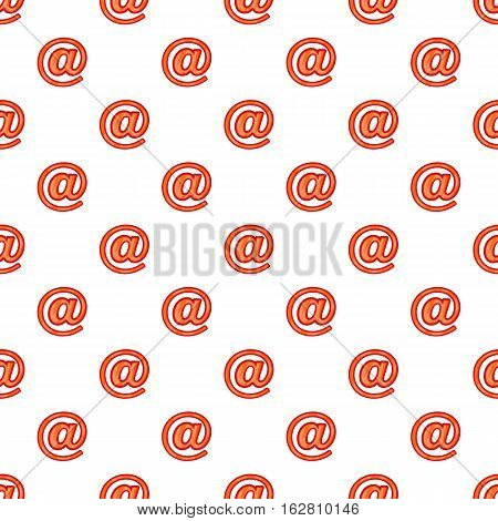 Cartoon illustration of sign e-mail vector pattern for web