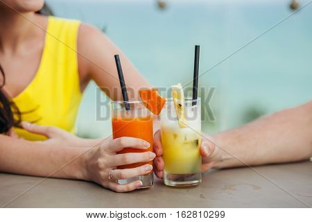 Pineapple Cocktail And Watermelon Cocktail