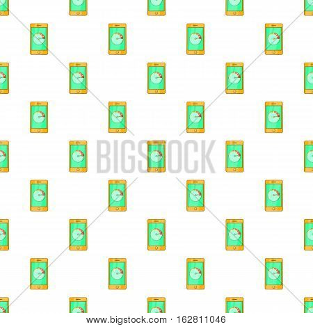 Cartoon illustration of battery indicator on phone vector pattern for web
