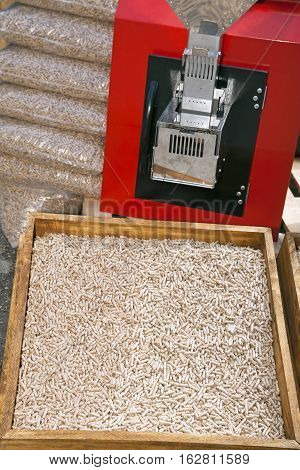 Wooden pellets for heating and furnace combustion for pellets