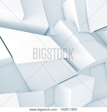 Pattern With Soft Blue Shadows, 3D