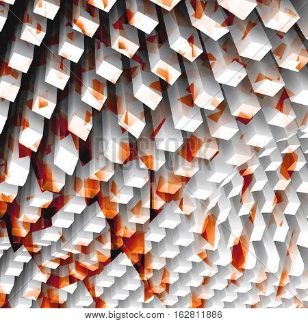 Abstract Digital Background 3 D Render
