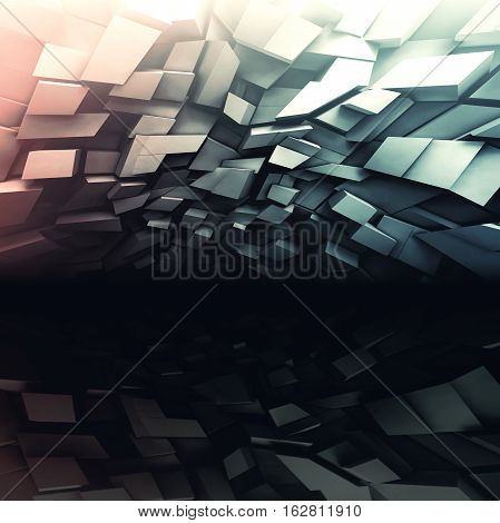 3D Chaotic Dark Shining Background