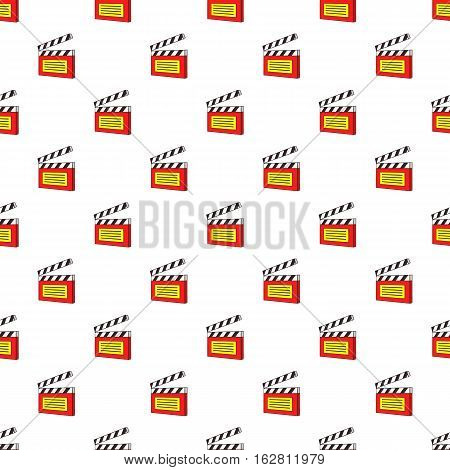 Cartoon illustration of clapperboard vector pattern for web