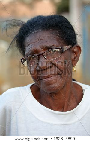 A Woman with sad eyes from Brazil