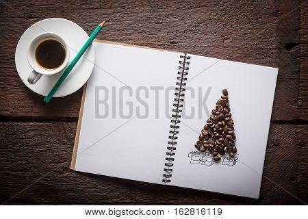 Coffee Beans Christmass Tree
