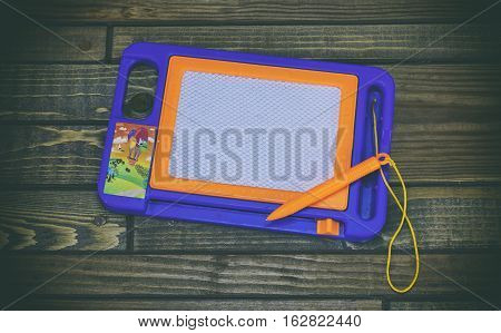 Child Paint Pad, Word On Paper Sticker
