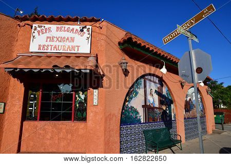 San Luis Obispo USA - july 14 2016 : restaurant