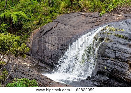 Bakers Falls In Horton Plains, Sri Lanka. The Height Of Bakers Waterfalls Is 20 Metres And The Falls Were Named After Sir Samuel Baker, Who Was A Famous Explorer