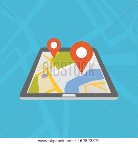 Mobile GPS navigation application. Global Positioning System