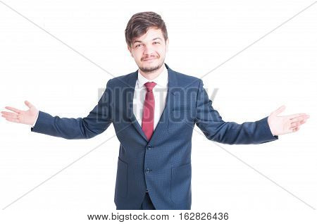 Business Man Or Manager Standing And Posing Confident