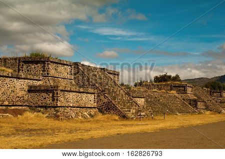 Platforms Near Death Road In Teotihuacan