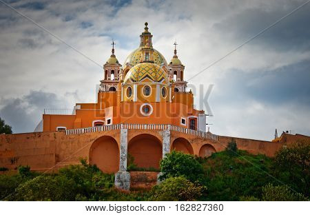 Church of Our Lady of Remedies in Cholula Mexico poster