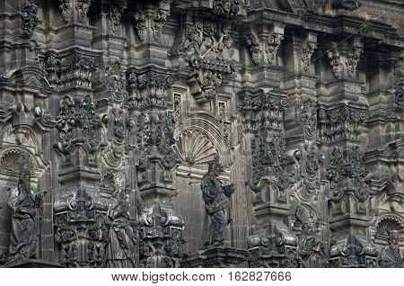 Elements Of Cathedral On Zocalo, Mexico City