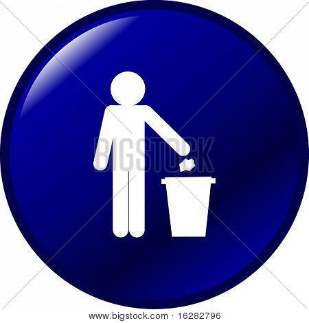trash button