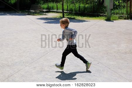 Little boy have fun in the park