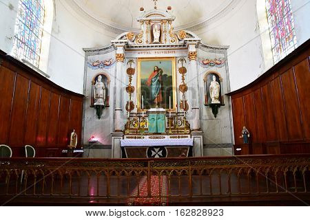 Saint Clement des Baleines France - september 26 2016 : the Saint Clement church